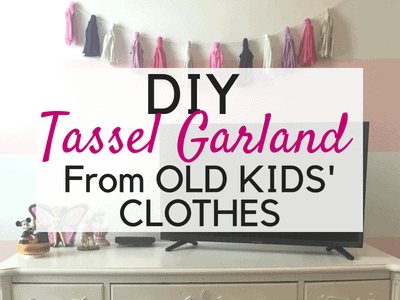 Directions to make a DIY Tassel Garland out of fabric!