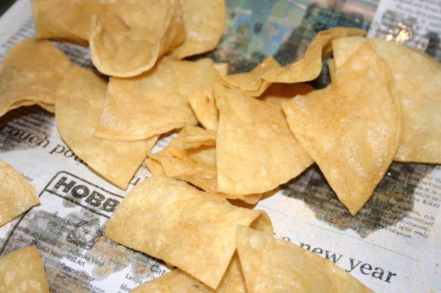 Learn to make your own fried tortilla chips!