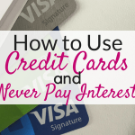 How to avoid paying interest on credit cards!