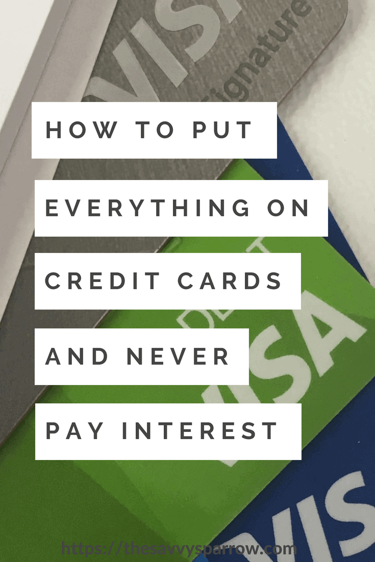 The Simple Tip I use to never pay credit card interest!