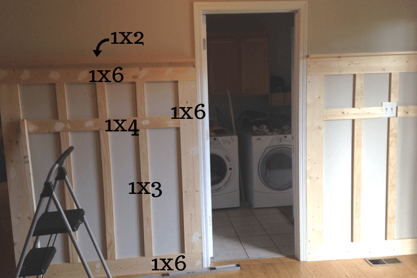 Lumber sizes for DIY Mudroom
