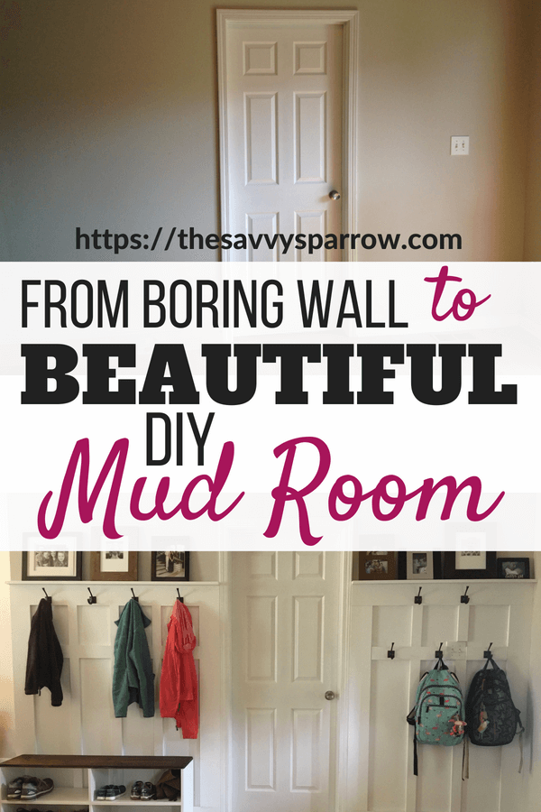 Turn a blank wall into a beautiful mudroom!