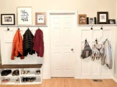 DIY mudroom wall