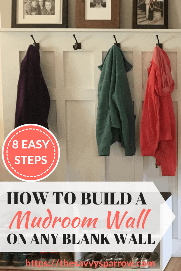 DIY Mudroom Wall Tutorial