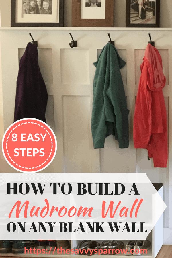 DIY Mudroom Wall Tutorial