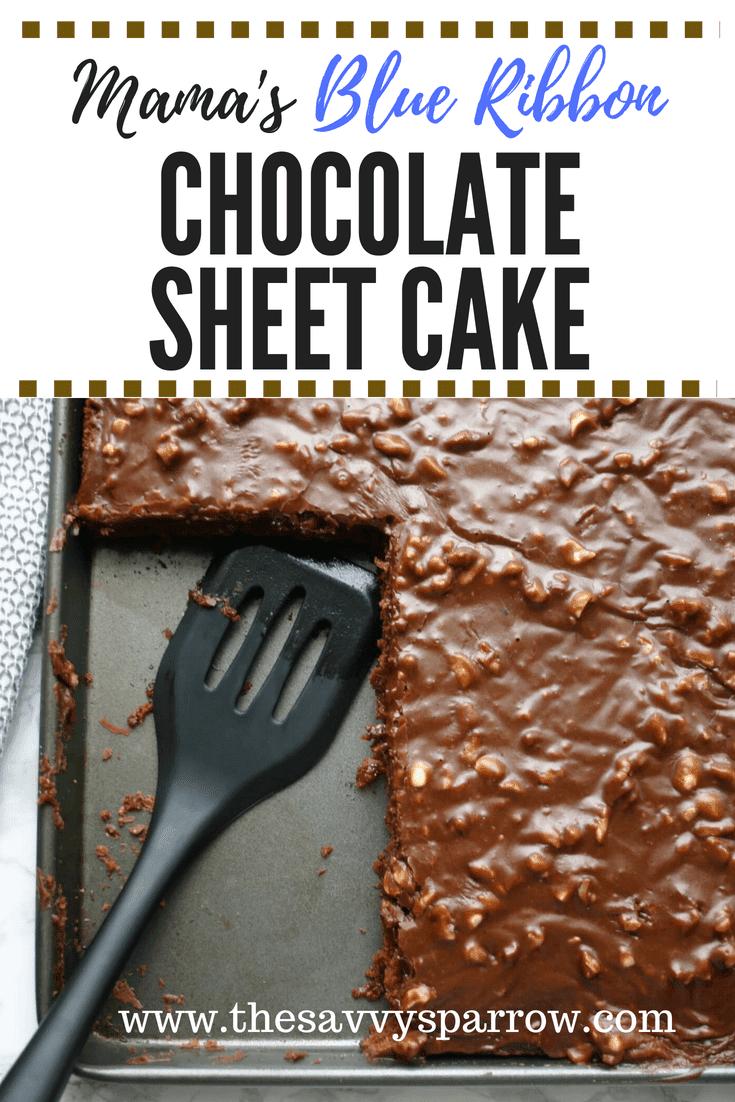 Easy chocolate sheet cake aka Texas sheet cake