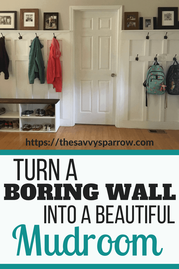 How to build a DIY Mudroom wall