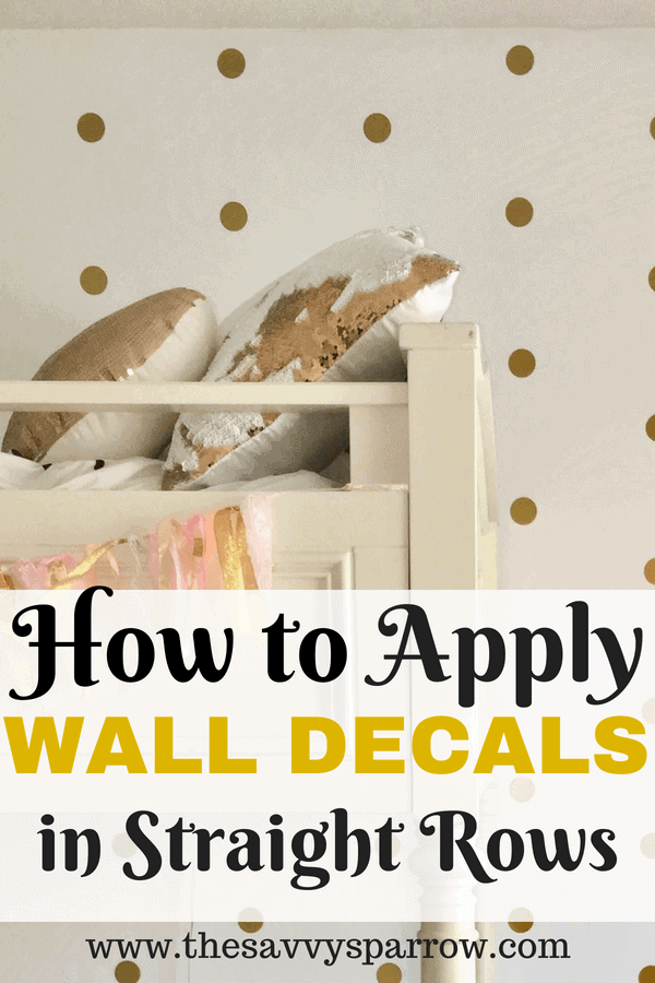 Apply Wall Decals in Straight Rows