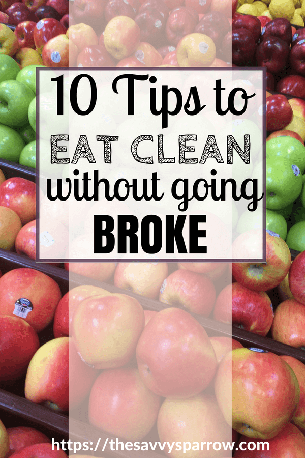 10 Tips to eat clean on a budget and save money on produce!