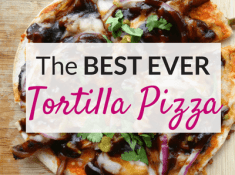 Easy and healthy tortilla pizza