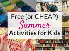 The best summer activities for kids!