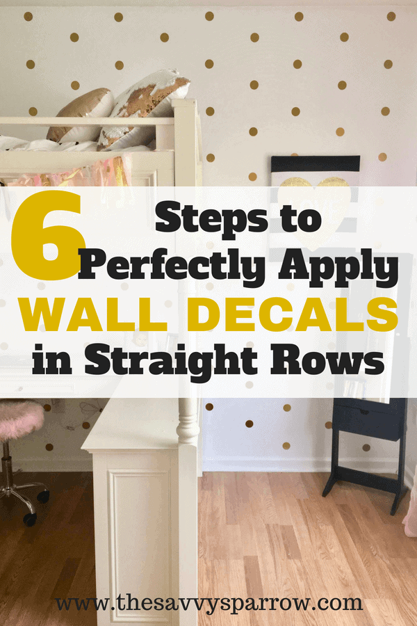 Guide to apply wall decals in rows