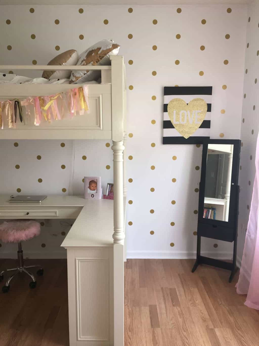 How to hang polka dot wall decals
