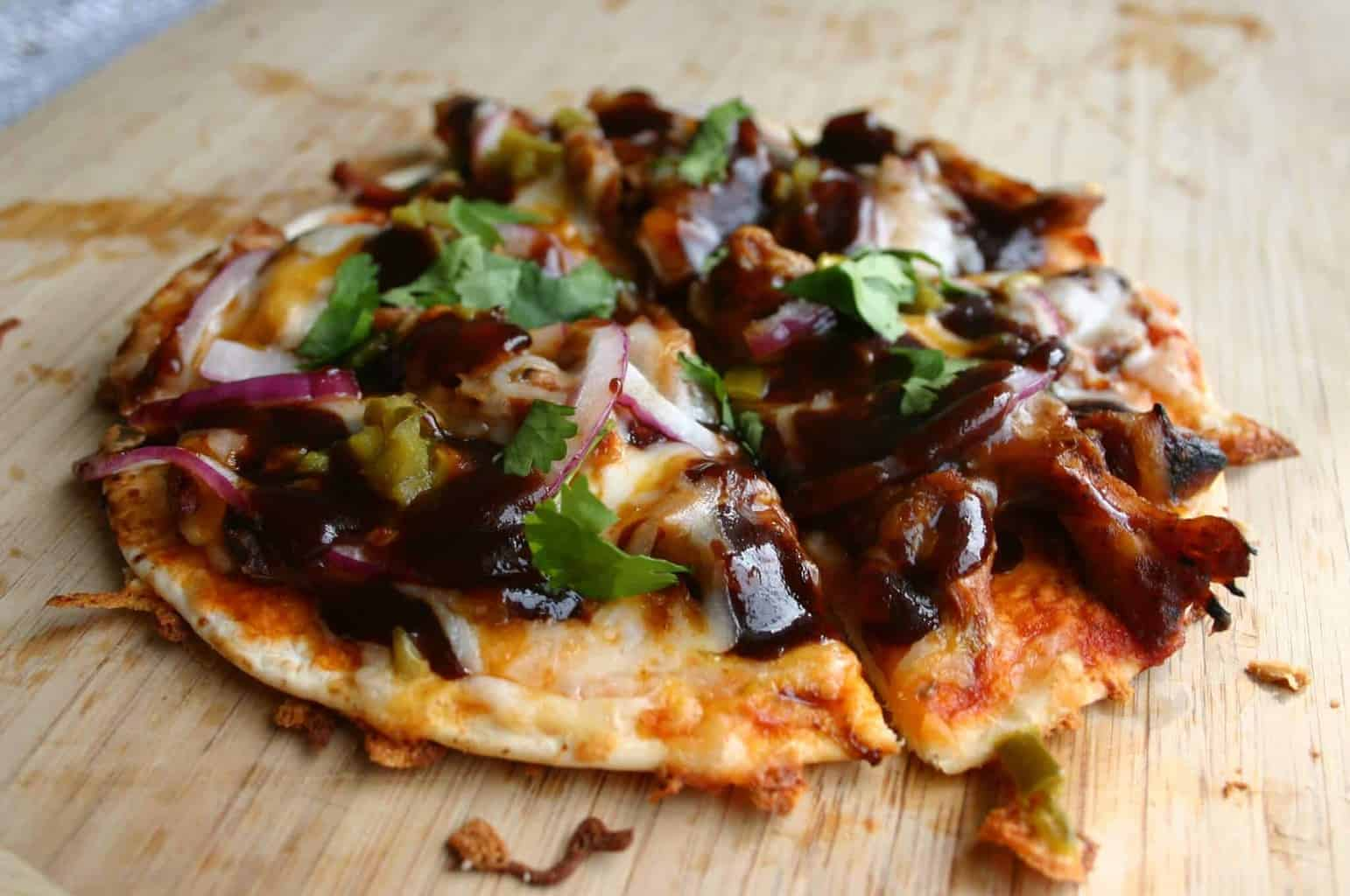 Delicious and easy low carb tortilla pizza
