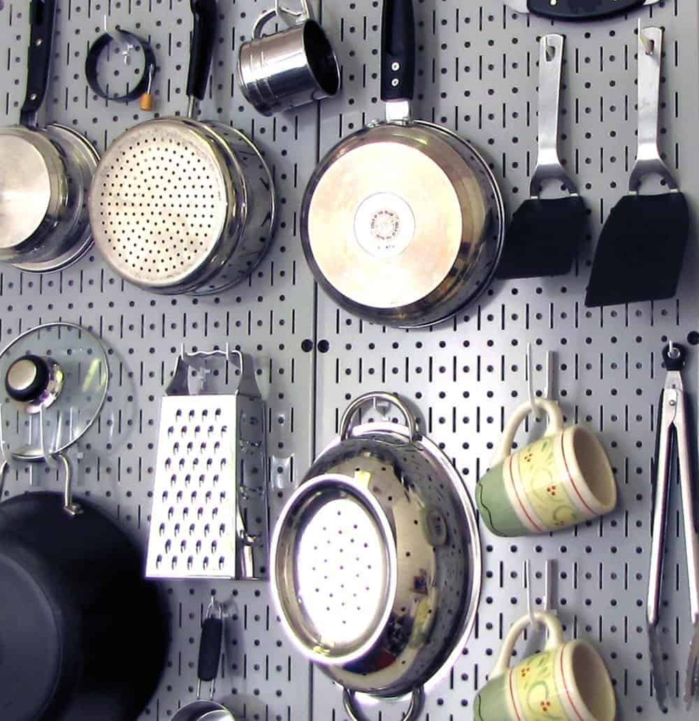 Kitchen organization pegboard