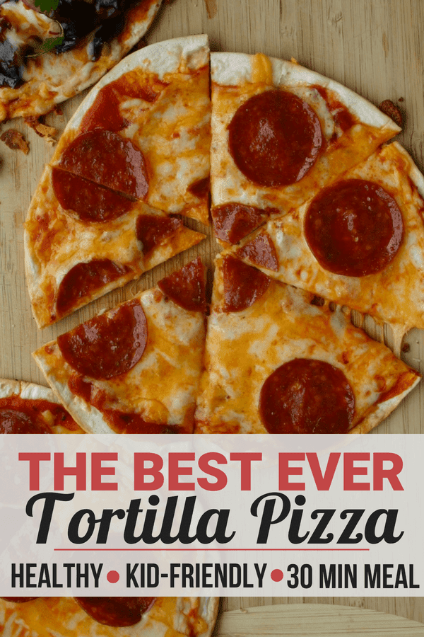 A healthy 30 minute dinner - Low carb tortilla pizza!