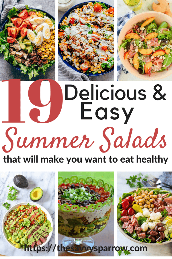 19 Delicious and Simple salad recipes to eat healthy!