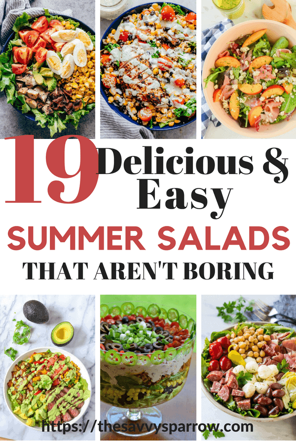 Try these delicious and easy salad recipes for dinner. So good salads that aren't boring!