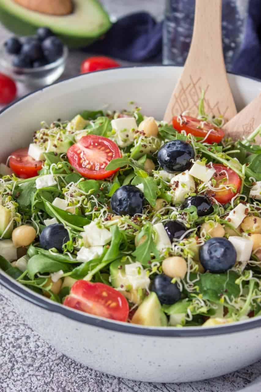 Delicious Blueberry Feta Salad