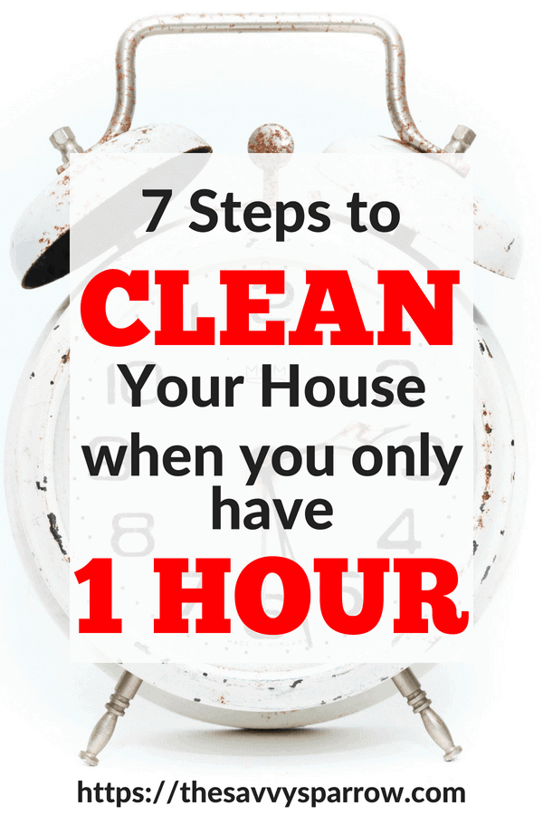 Fast House Cleaning Tips to Clean your whole house in one hour!