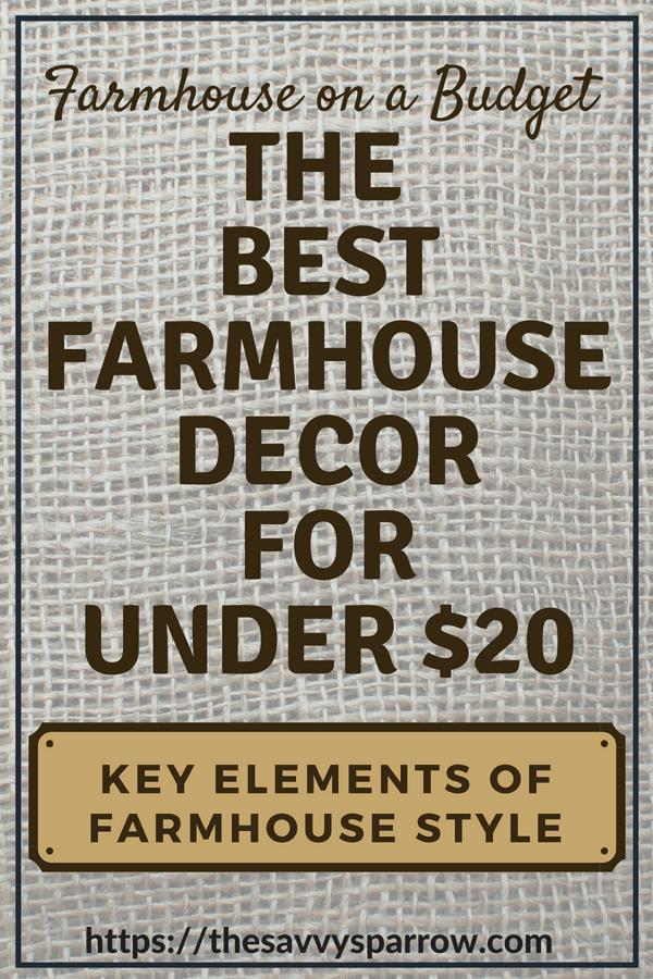 Farmhouse on a Budget