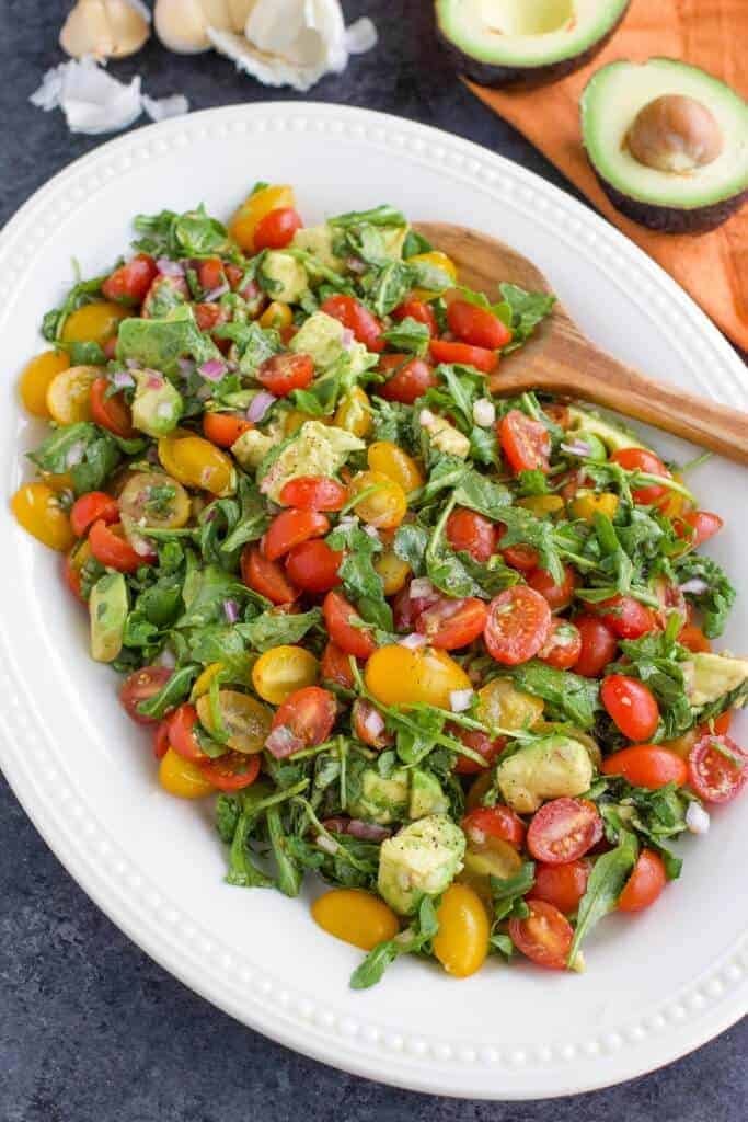 Yummy Vegan Avocado Tomato Salad