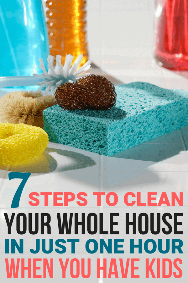 The Best Cleaning Tips for Moms to clean house in one hour!