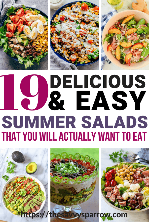 The best healthy salad recipes to make for easy summer dinners!