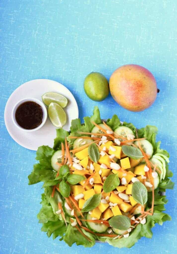 Delicious Vegan Thai Mango Salad