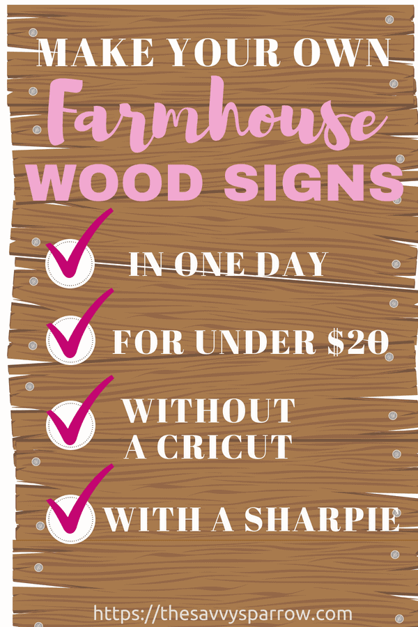 Learn how to make farmhouse wood signs with sharpie markers with this DIY farmhouse sign tutorial!
