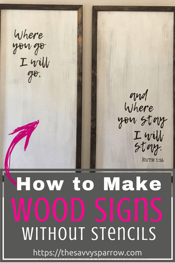 Click here to learn how to make DIY farmhouse wood signs with words!