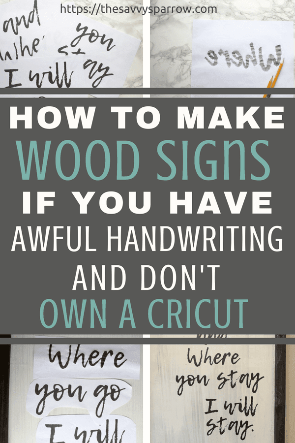 Click here to learn how to make easy DIY farmhouse wood signs without a stencil!