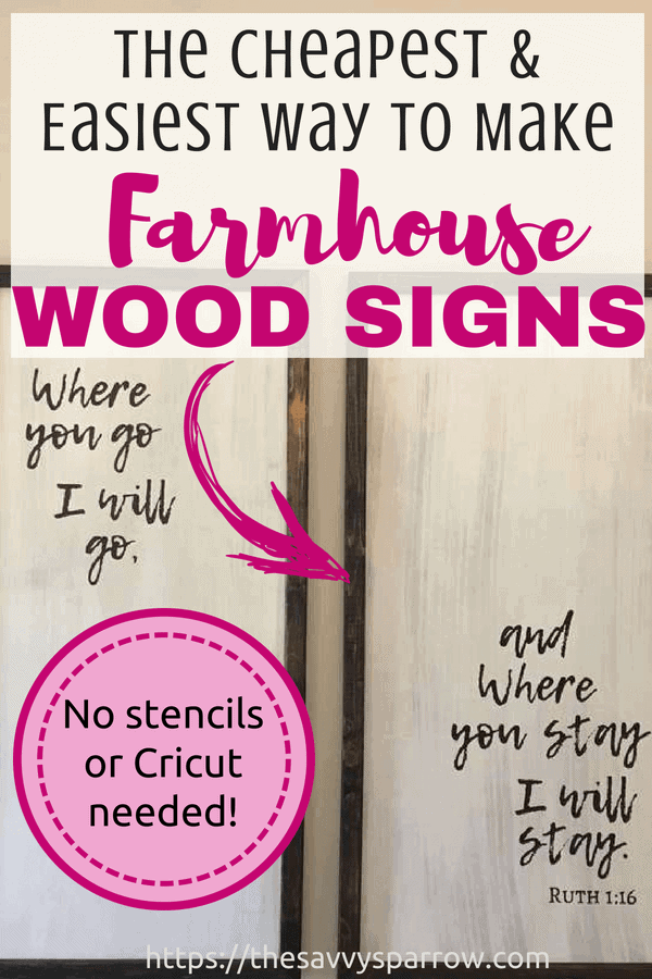 Learn how to make DIY farmhouse wood signs with sharpies and without a stencil!