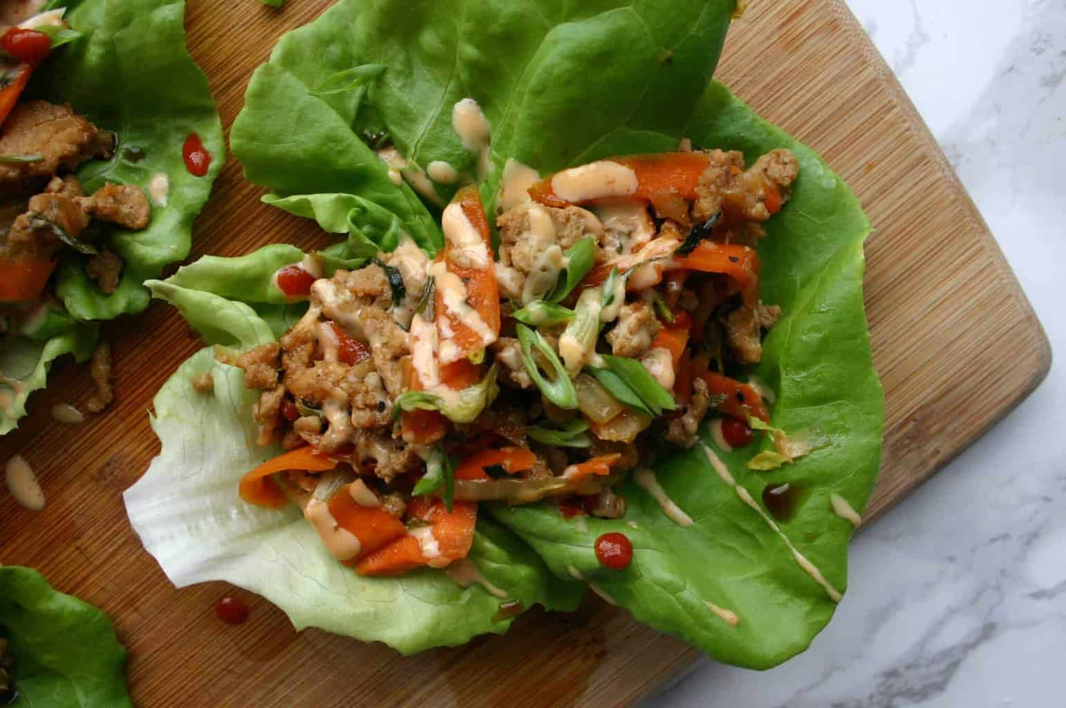 PF Changs Copycat! Healthy Asian ground turkey lettuce wraps! Try them tonight!