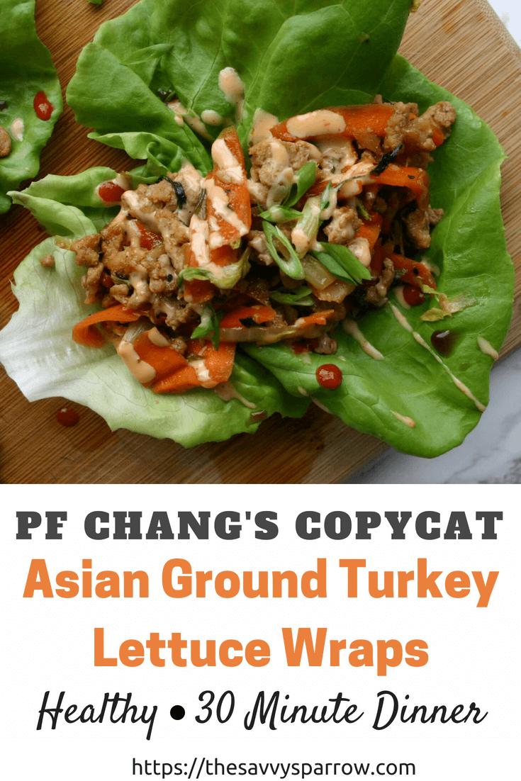 PF Changs Copycat Recipe - Healthy Asian Ground Turkey Lettuce Wraps!