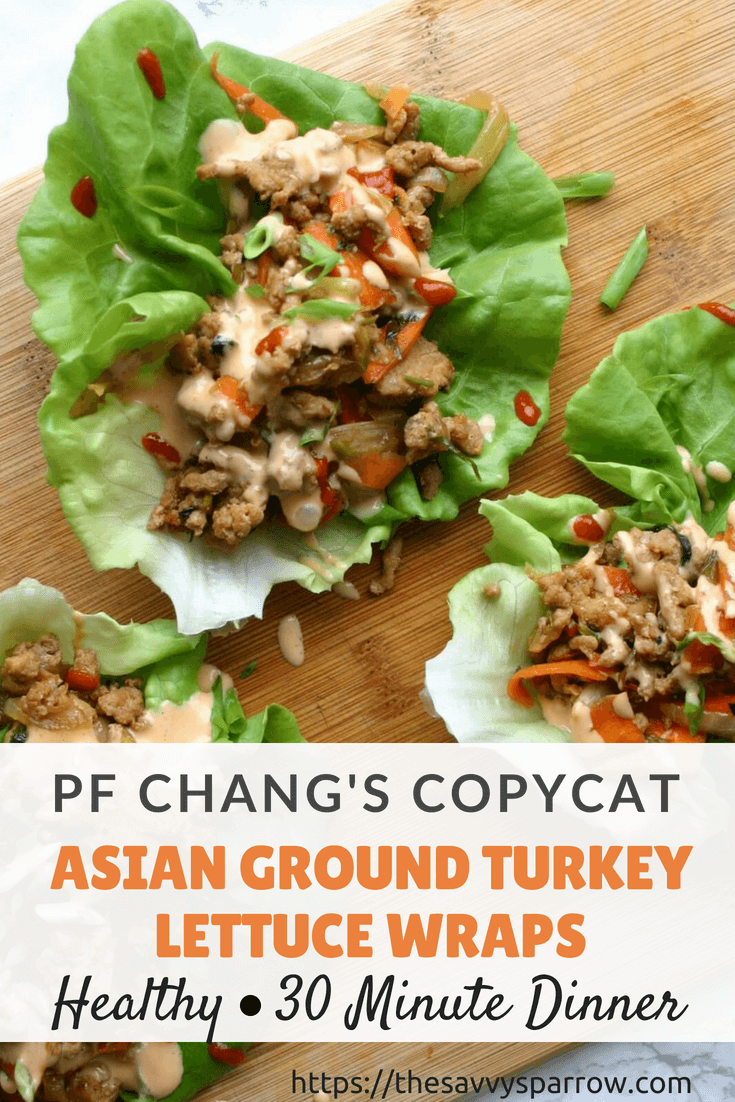 A PF Chang's Copycat Recipe for Asian Ground Turkey Lettuce Wraps