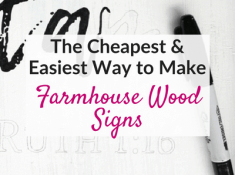 Easy DIY wood signs with a sharpie and no stencils!