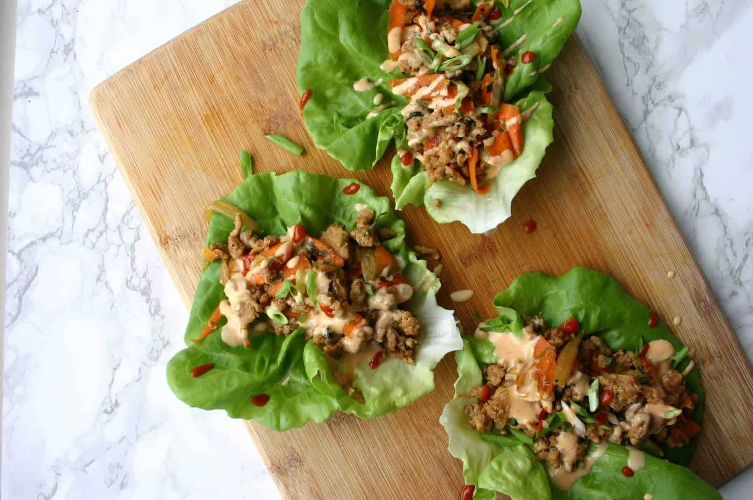PF Chang's Copycat Lettuce Wraps - Healthy Asian Ground Turkey Lettuce Wraps!