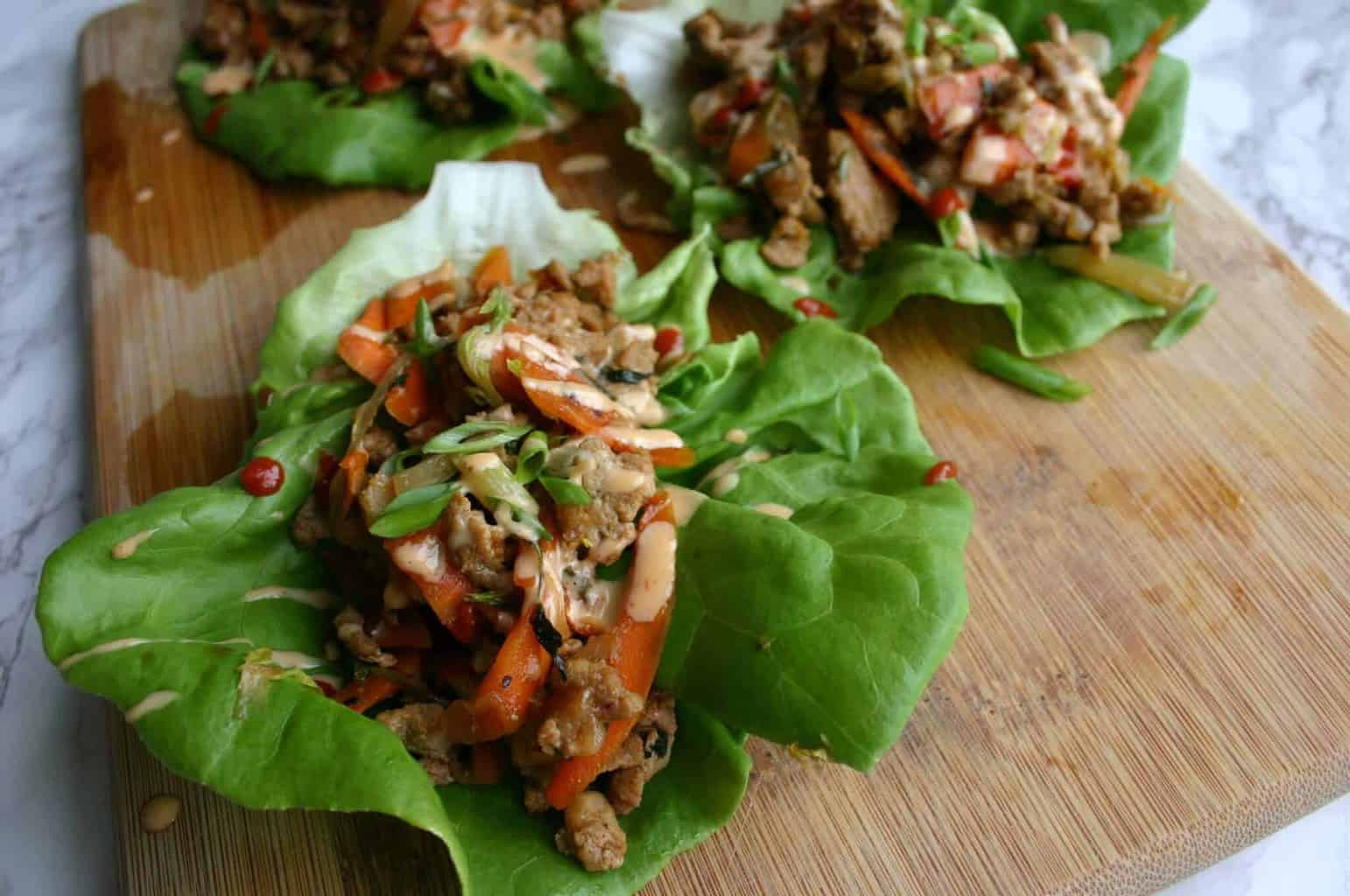 PF Changs Copycat Lettuce Wraps! Healthy Asian Ground Turkey Lettuce Wraps.