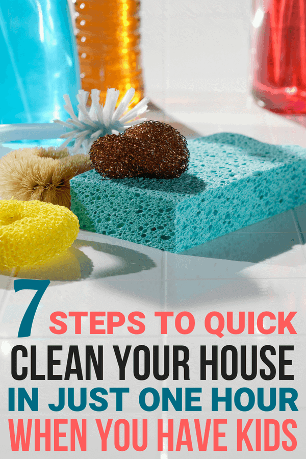 The Best Cleaning Tips for Moms to Clean House in One Hour