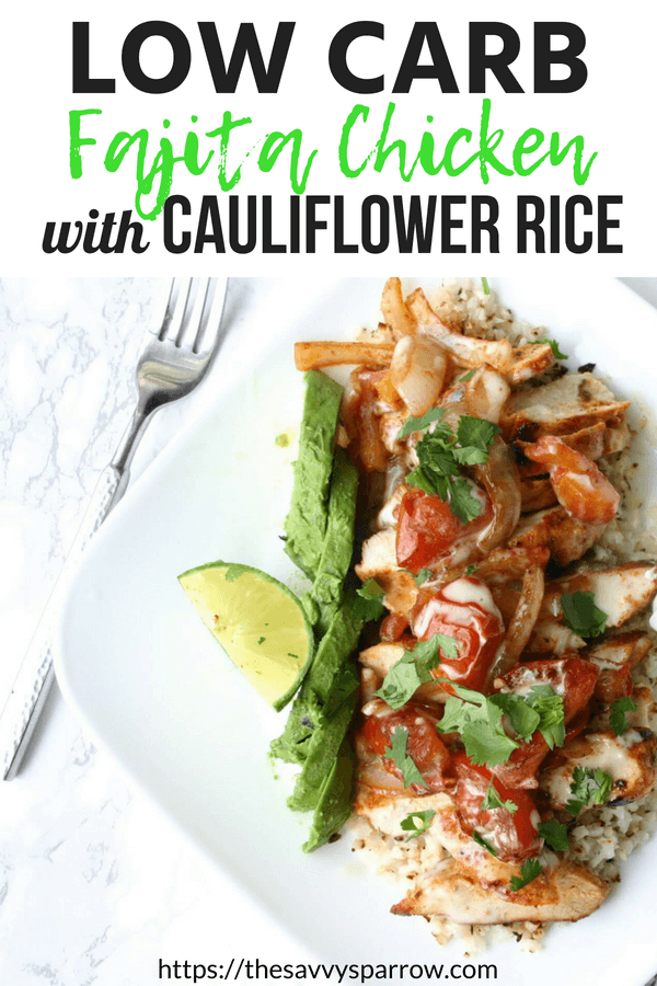 Low carb arroz con pollo - a delicious and easy low carb dinner recipe!