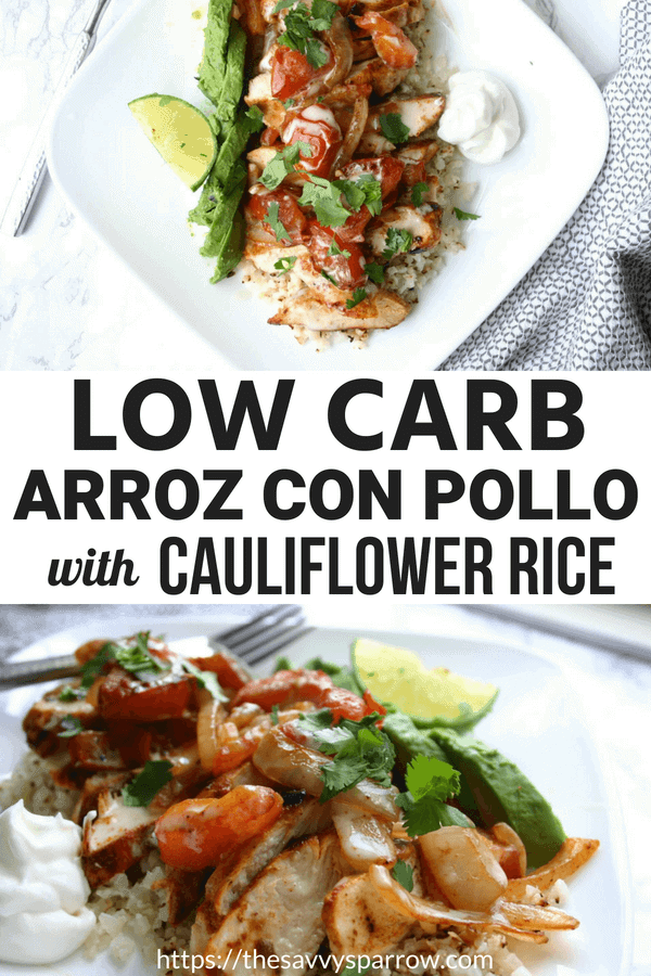 Low carb arroz con pollo - An easy cauliflower rice recipe!