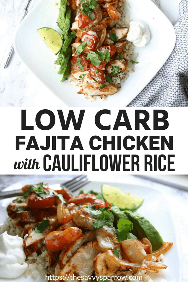 Low carb arroz con pollo with cauliflower rice! A delicious and easy weeknight dinner!