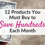 Products that save you money and help you stick to a budget!