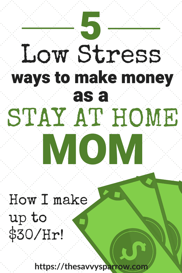 Ways to make money as a stay at home mom - Work from home mom jobs I actually do!
