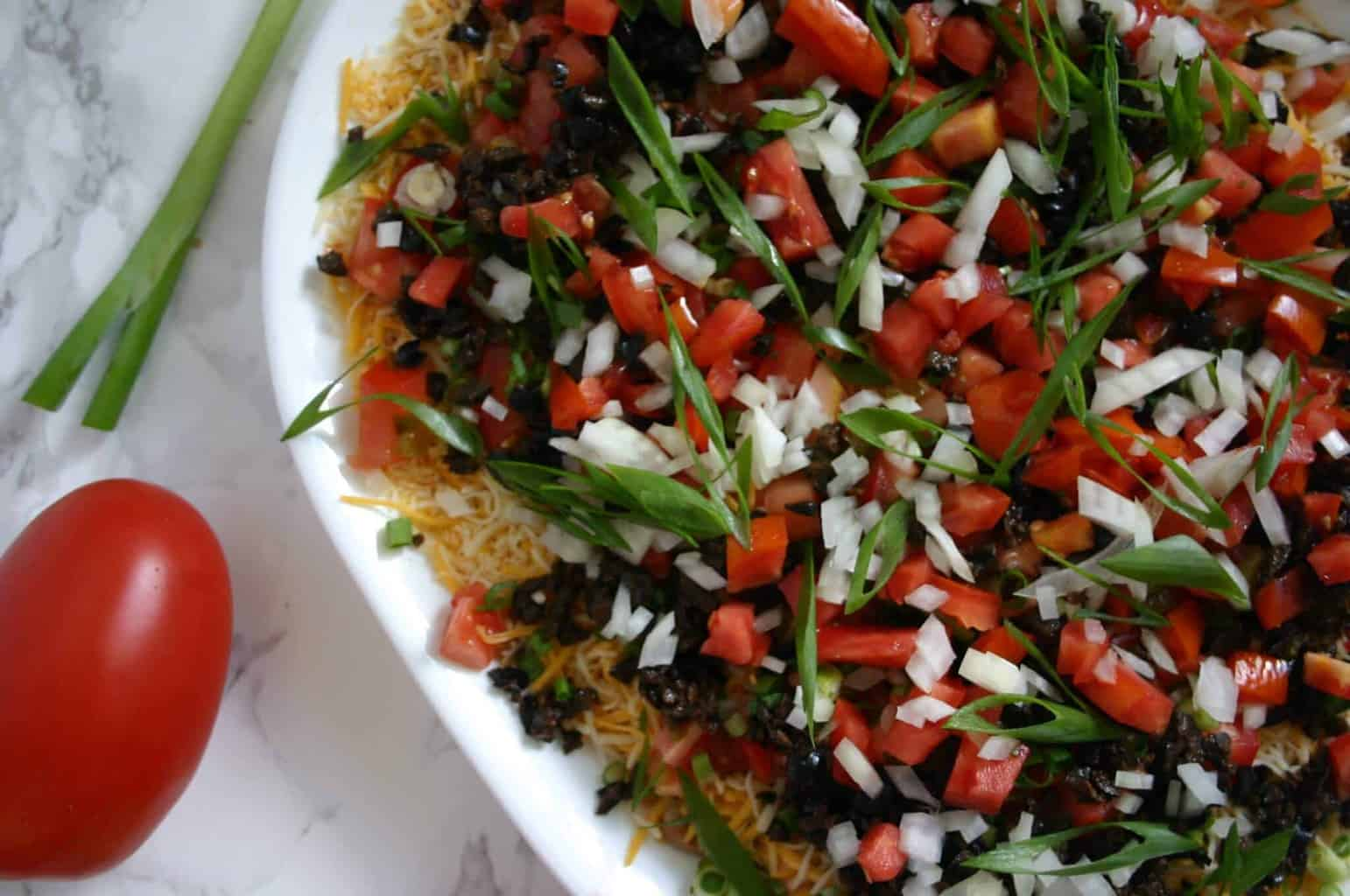 Easy taco dip recipe - The perfect easy football party food!