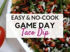 Easy taco dip recipe - The perfect football party food!