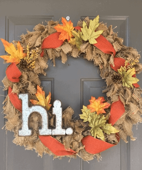 Easy DIY Burlap Wreath - One Wreath for all Four Seasons!