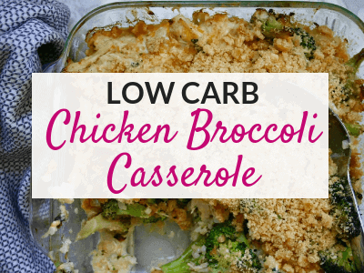 Low Carb Chicken Broccoli Casserole with Cauliflower Rice
