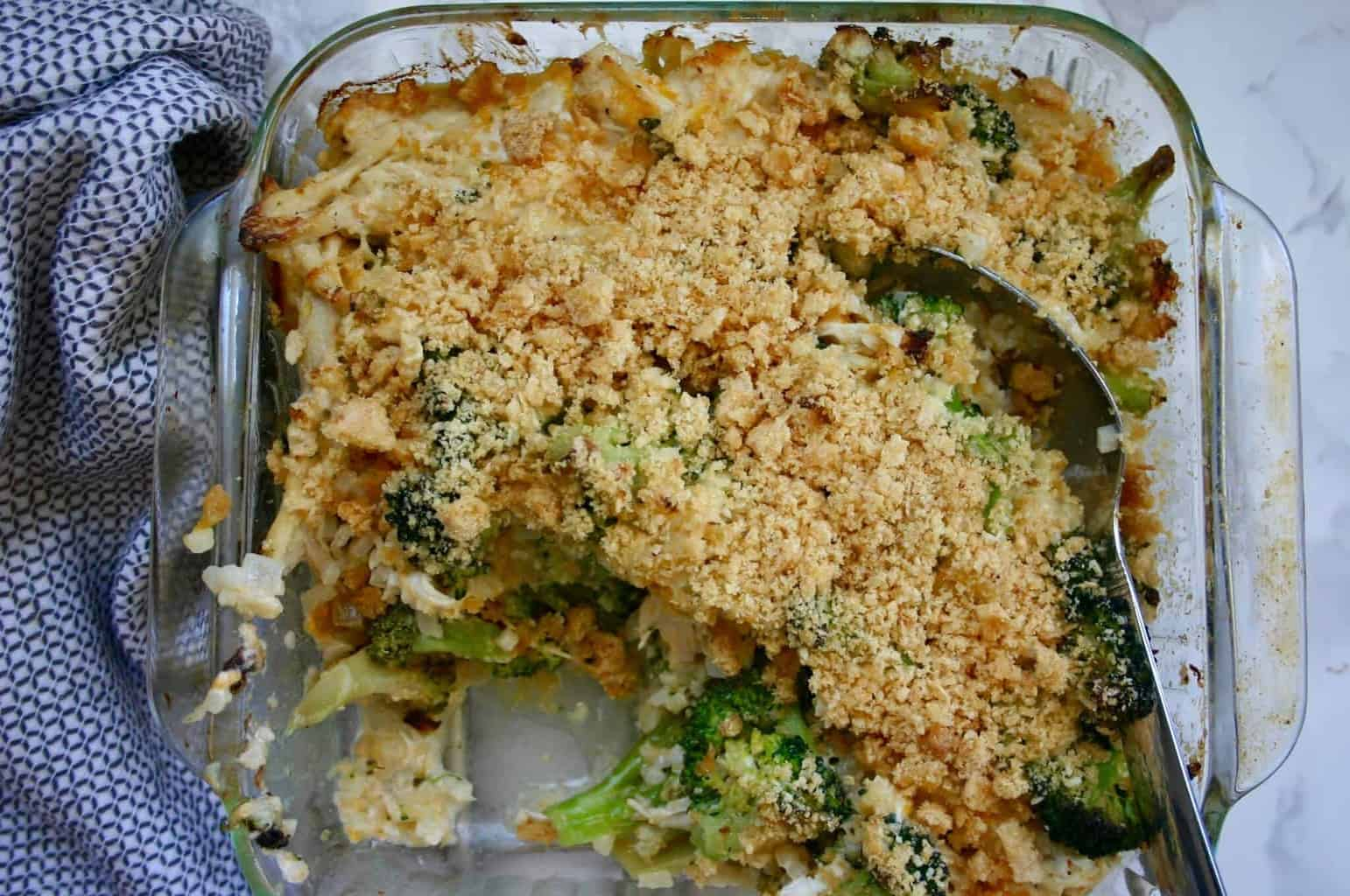 Need low carb dinner ideas? Add this low carb chicken broccoli casserole to your list of healthy dinner recipes to try!